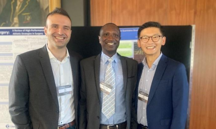 (L – R) Dr Alp Atik, Dr Bigirimana Deus, and Dr Bob Wang (not pictured Sebastian Derham).