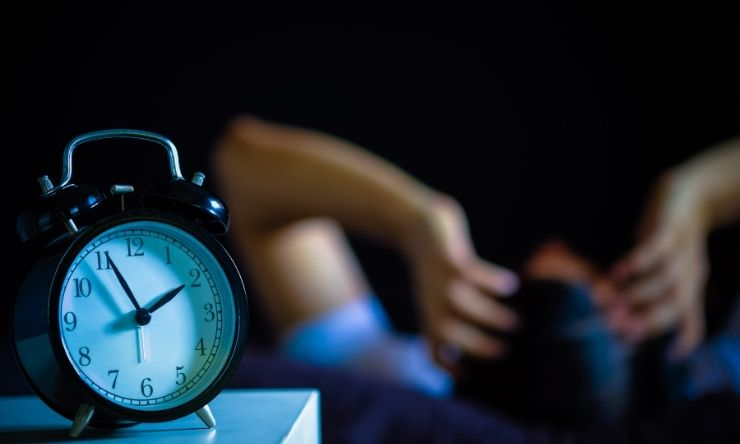 Blurred image of person waking up in middle of night