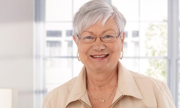 Image of older woman smiling