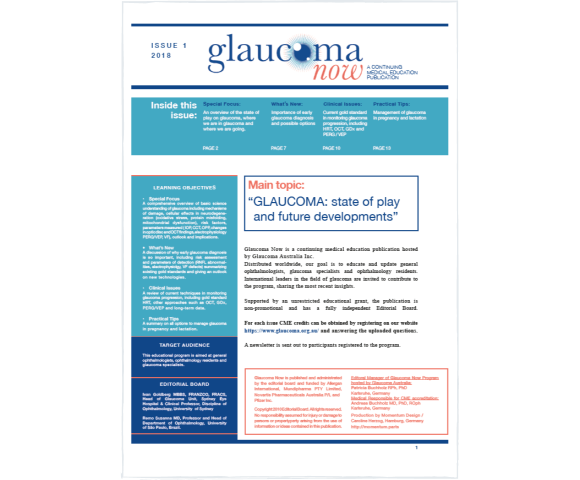Glaucoma Now continuing medical education publication