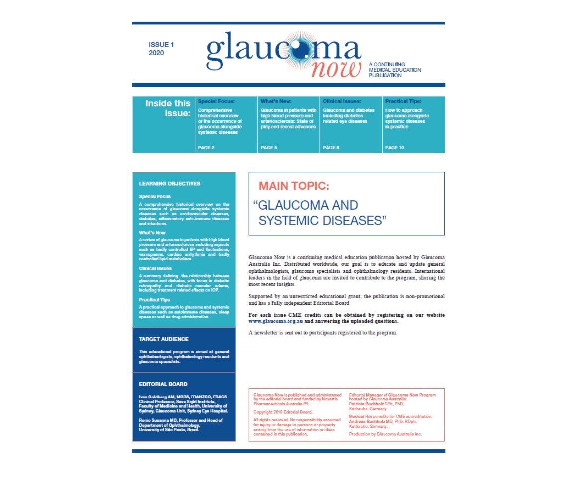 Publication Cover: Glaucoma Now Issue 2 2020