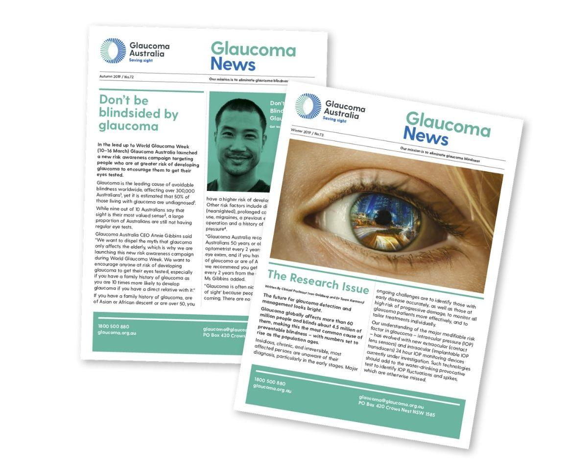 Images of Glaucoma Newsletter issues