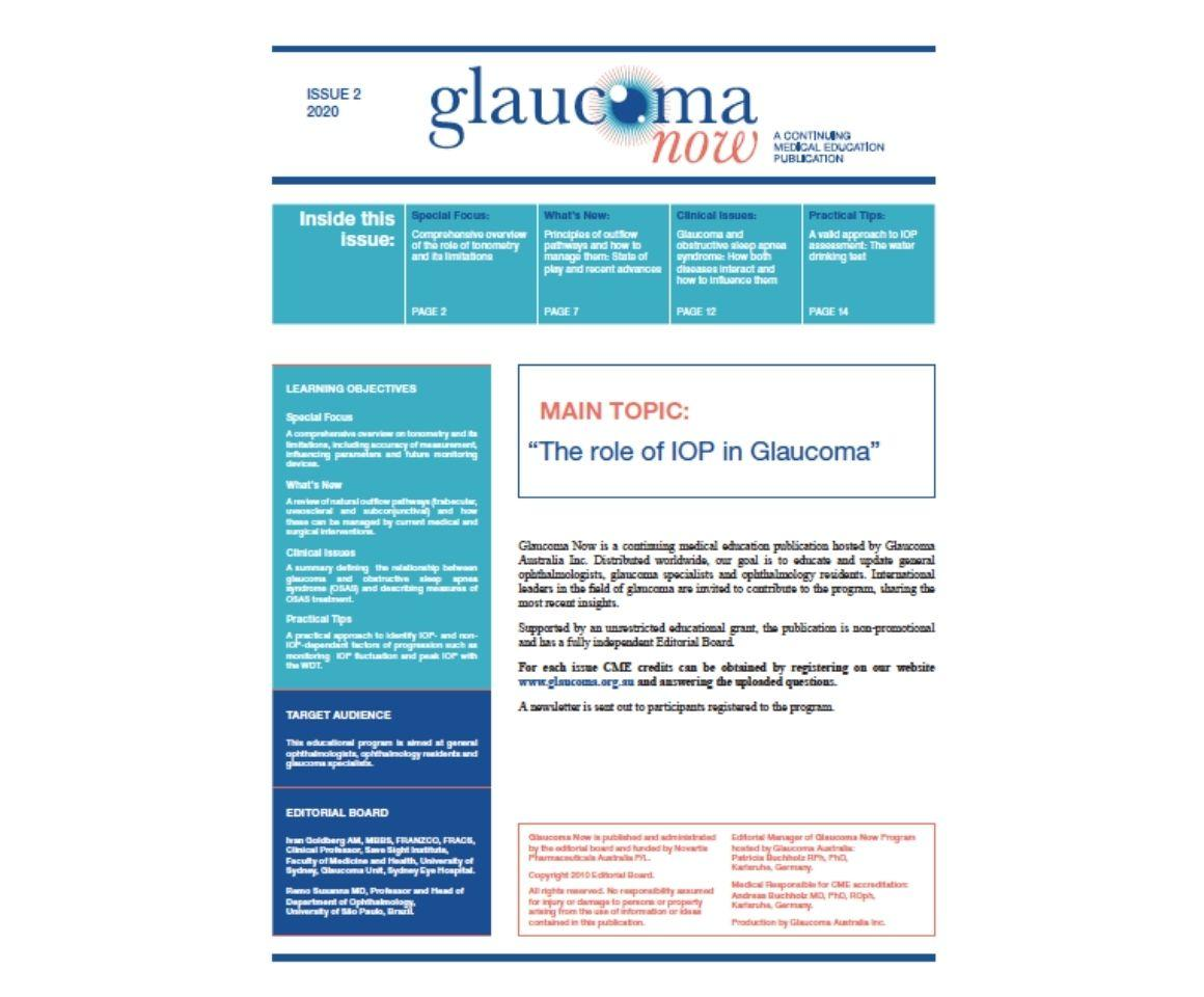 Image of Issue 2 2020 Glaucoma Now