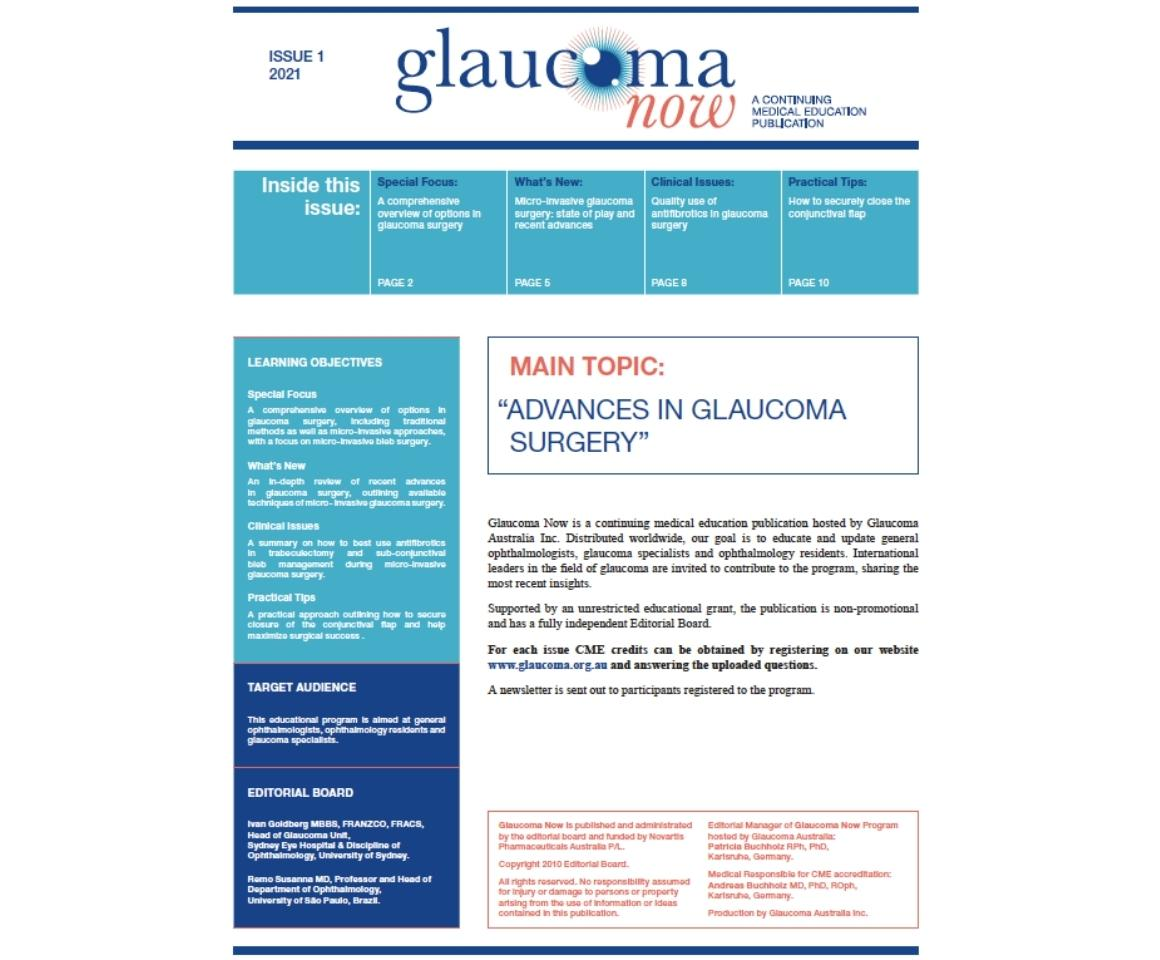 Image of Glaucoma Now Issue 1 2021 cover