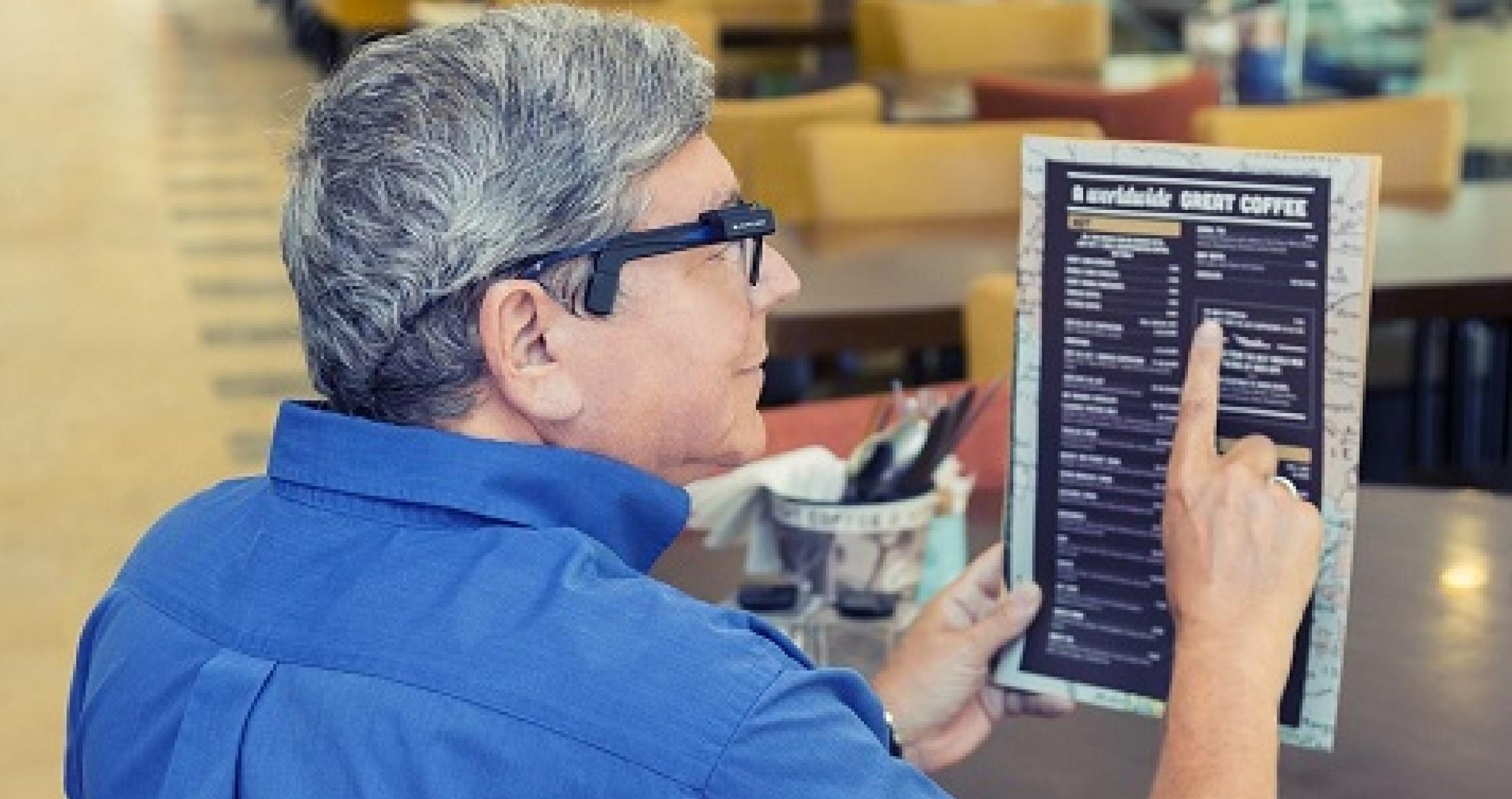 Man reading a menu
