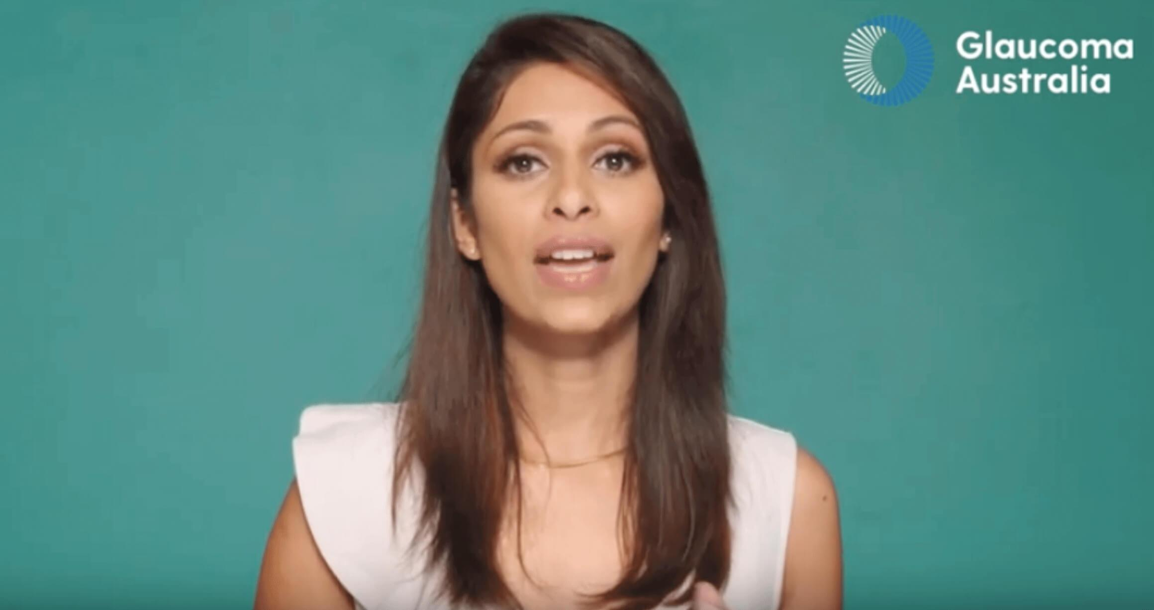 Screenshot of patient educator Sapna Nand talking in educational video