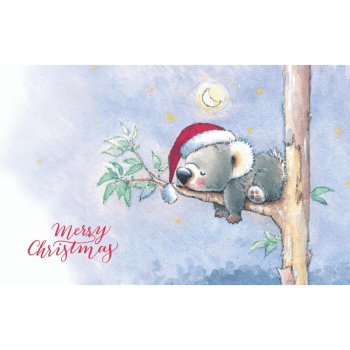 Christmas Card with Koala