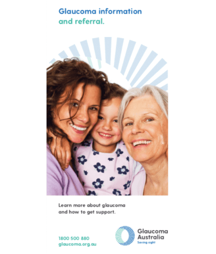 Glaucoma Information and Referral brochure (max 5 packs of 20) image